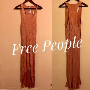 Free People Ribbed Maxi Dress with High-Low Hem